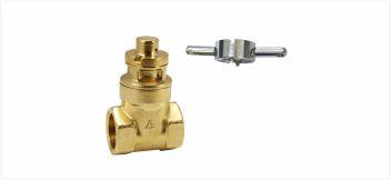 Z28磁感应带锁足经黄铜闸阀